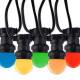 LED lyskæde med kulørte lamper