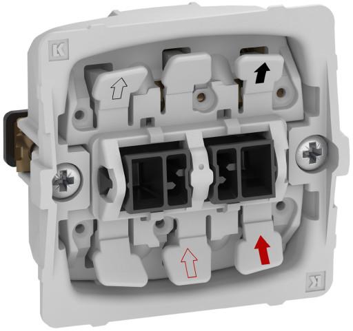 Billede af LK FUGA afbryder 2-pol 440V, 1 modul - uden afdækning