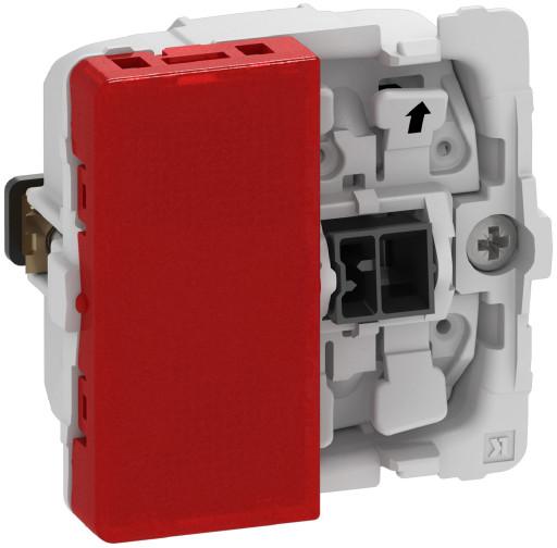 Billede af LK FUGA afbryder 1-pol med rød lampe, 1 modul - uden afdækning