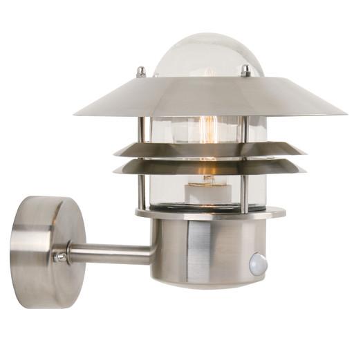 Nordlux Blokhus Udendørs Væglampe Med Sensor - Rustfrit stål
