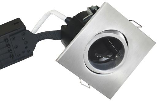 Billede af Nordtronic LOW Indbygningsspot - Firkantet-Aluminium