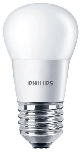 Billede af Philips LED E27 Kronepære-4W = 25W-Mat
