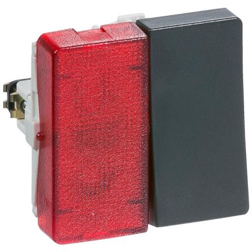 Billede af LK FUGA afbryder 1-pol med rød lampe, 1 modul - koksgrå