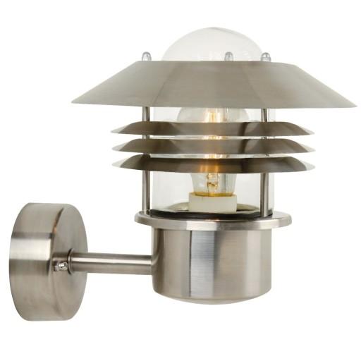 Billede af Nordlux Vejers Udendørs Væglampe - Rustfrit stål