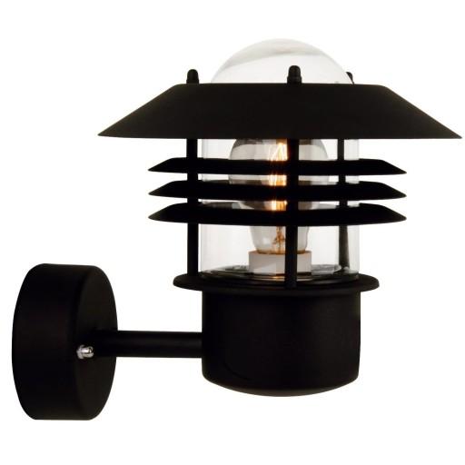 Billede af Nordlux Vejers Udendørs Væglampe - Sort