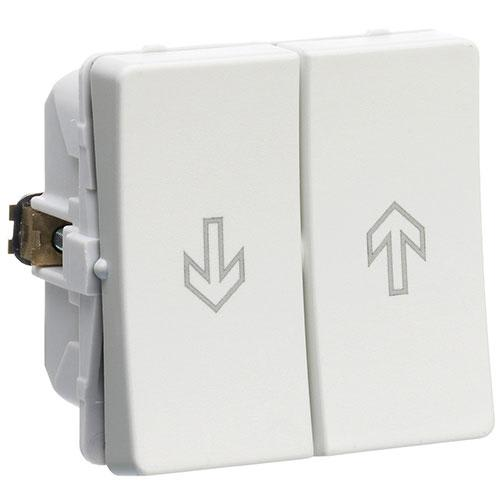Billede af LK FUGA afbryder m/jalousi, 1 modul - lysegrå