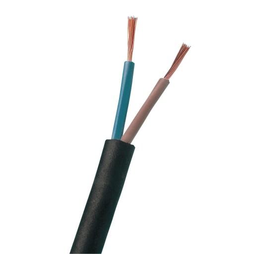 Billede af 10m. Rund Plastledning PKL 2x0,75 mm² - Sort