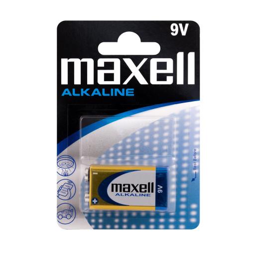 Maxell 9V Alkaline batteri - 1 stk