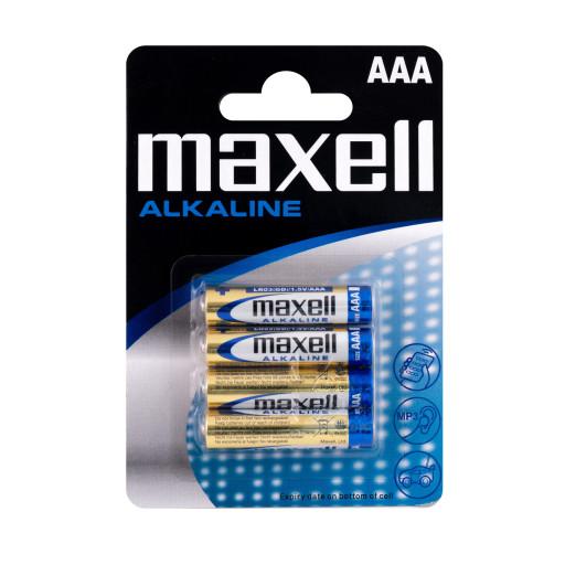 Maxell AAA Alkaline batterier - 4 stk