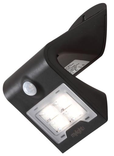Køb Mylight væglampe med sensor & solcelle – 2W