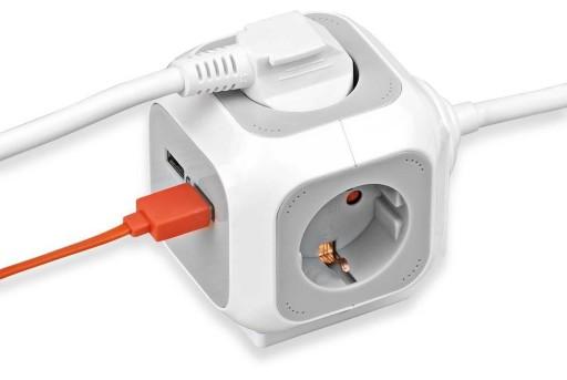 Kube Multi-stikdåse m/USB thumbnail