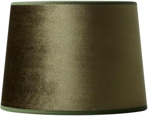 Milano Velour Lampeskærm - Grøn-H17 cm