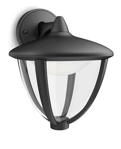 Philips myGarden Robin LED Væglampe NED - Sort thumbnail