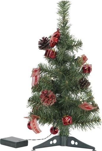 Star Trading LED Juletræ med pynt og lys-Rød