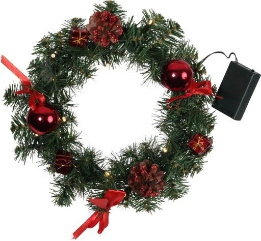 Star Trading julekrans med lys og Pynt