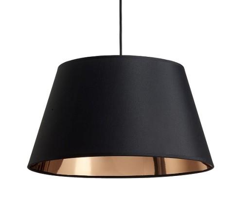 Manhatten Lampeskærm-Sort/Kobber