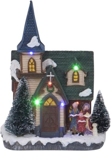 Billede af Star Trading Kirke med farvet lys
