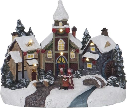 Billede af Star Trading Jule-Kirkeby med lys