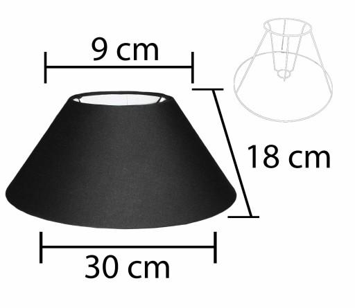 Alpe Design Beijing Lampeskærm - Sort-H18 cm
