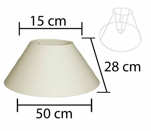 Alpe Design Beijing Lampeskærm - Creme-H28 cm