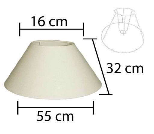 Alpe Design Beijing Lampeskærm - Creme-H32 cm