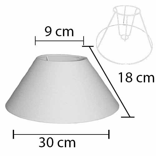 Alpe Design Beijing Lampeskærm - Hvid-H18 cm