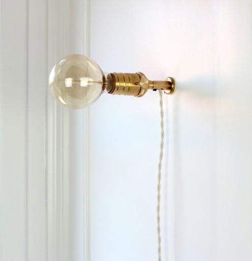 Billede af Retro Messing Væglampe-Dreje-afbryder