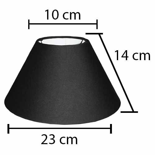 Alpe Design London Lampeskærm - Sort-H14 cm