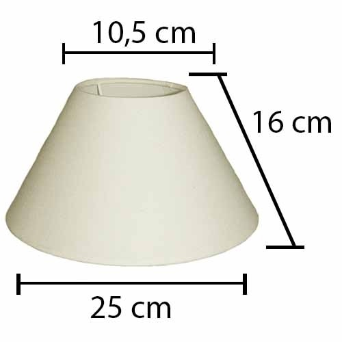 Alpe Design London Lampeskærm - Creme-H16 cm