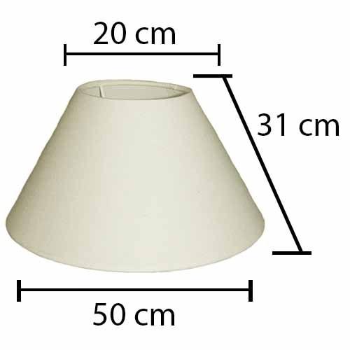 Alpe Design London Lampeskærm - Creme-H31 cm