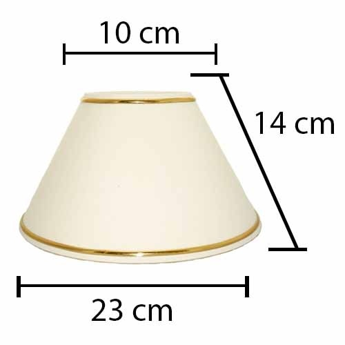 Alpe Design London Lampeskærm - Creme - Guld-H14 cm