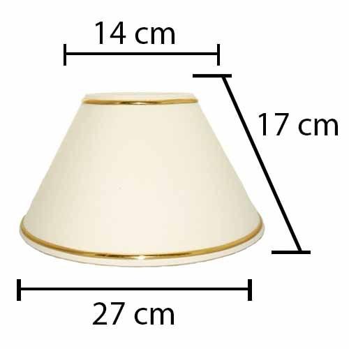 Alpe Design London Lampeskærm - Creme - Guld-H17 cm