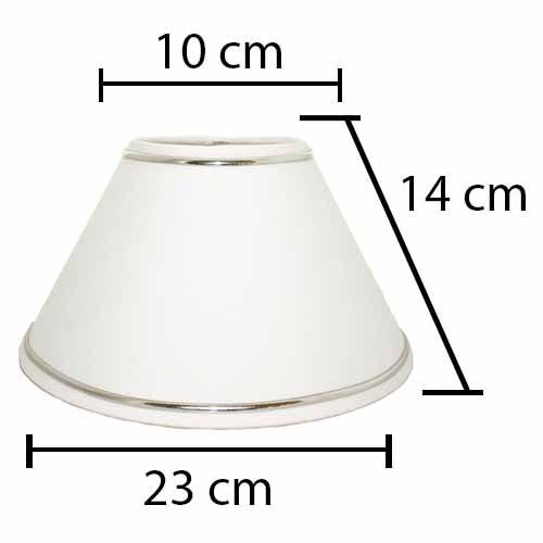 Alpe Design London Lampeskærm - Hvid sølv Striber-H14 cm