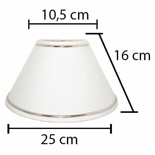 Alpe Design London Lampeskærm - Hvid sølv Striber-H16 cm