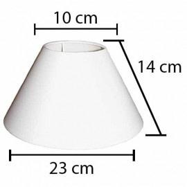 Alpe Design London Lampeskærm - Hvid-H14 cm