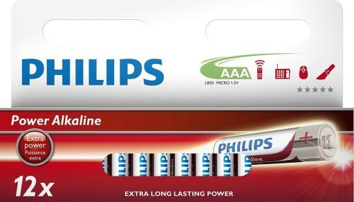 Billede af Philips Batterier - AAA-1 pk. m/12 stk
