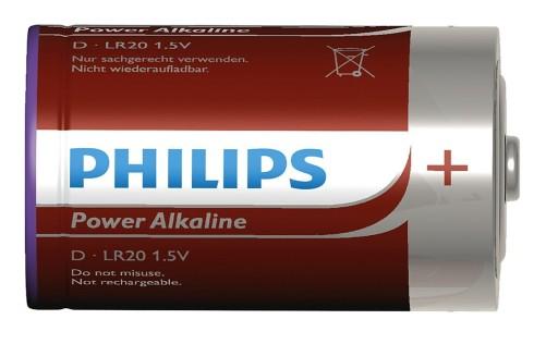 Billede af Philips Batterier - D (2-pk)
