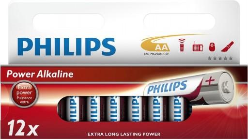 Billede af Philips Batterier - AA-1 pk. m/12 stk