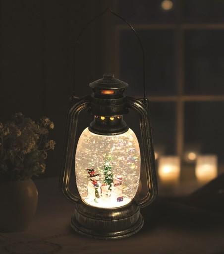 Lanterne med Glimmer og Snemand