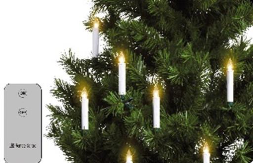 Veli Trådløse LED Juletræslys - 10-pak