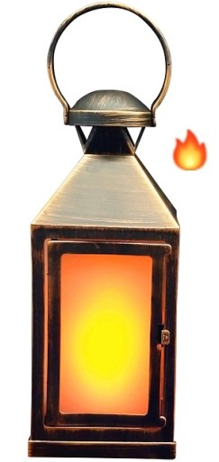 Køb Veli Lanterne med Flammelys
