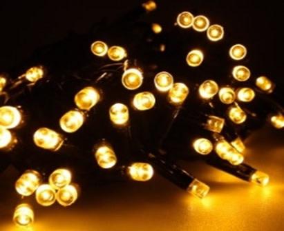 Veli udendørs batteri-lyskæde - gyldent lys-6 meter