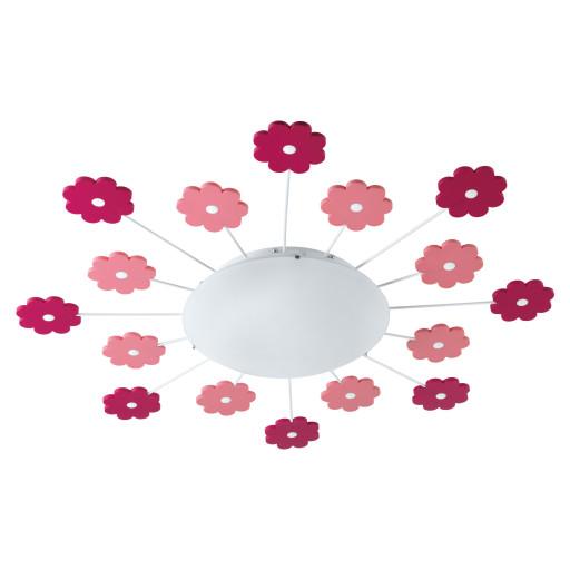 Eglo Viki 1 børnelampe - pink blomster