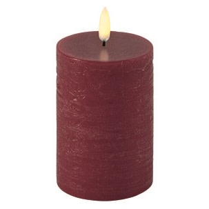 Uyuni LED Bloklys - 5x10 cm-Rød