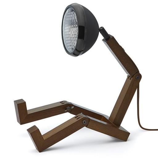 Mr Wattson Bordlampe Mørkt Træ-Mat Sort thumbnail