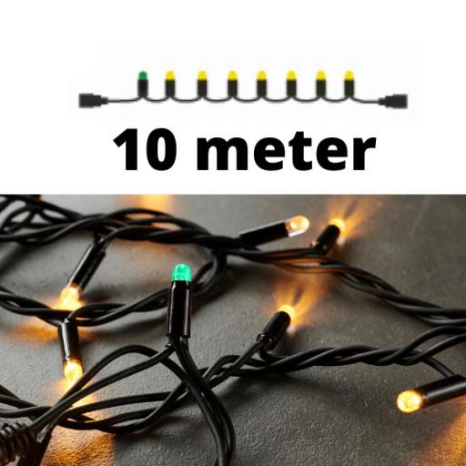 Køb Sirius Top-Line LED lyskæde   100 varmhvide lys   10m.   sort ledning   FORLÆNGER