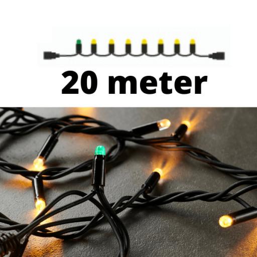Køb Sirius Top-Line LED lyskæde   200 varmhvide lys   20m.   sort ledning   FORLÆNGER