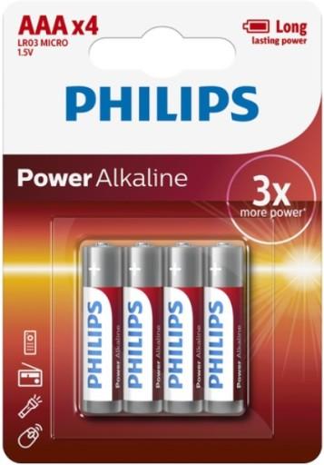 Billede af Philips Batterier - AAA-1 pk. m/4 stk.