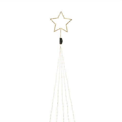 Konstsmide juletræslyskæde inkl. topstjerne m/lys – kobber