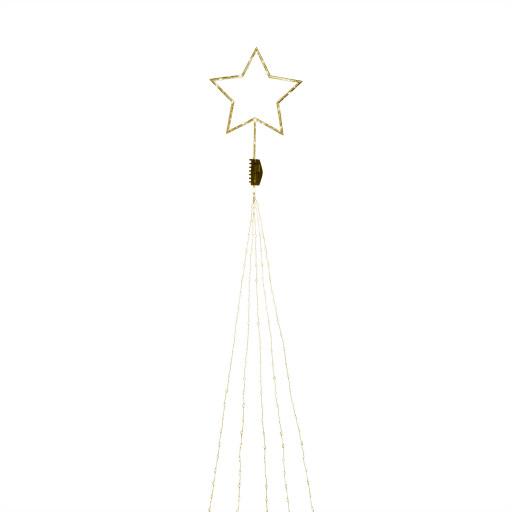 Konstsmide juletræslyskæde inkl. topstjerne m/lys – guld
